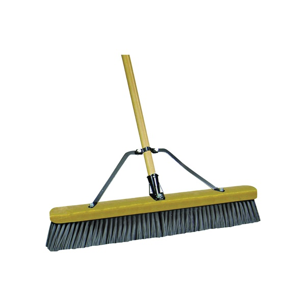 Picture of Quickie 00868SU Push Broom, 24 in Sweep Face, Polypropylene Bristle, Wood Handle