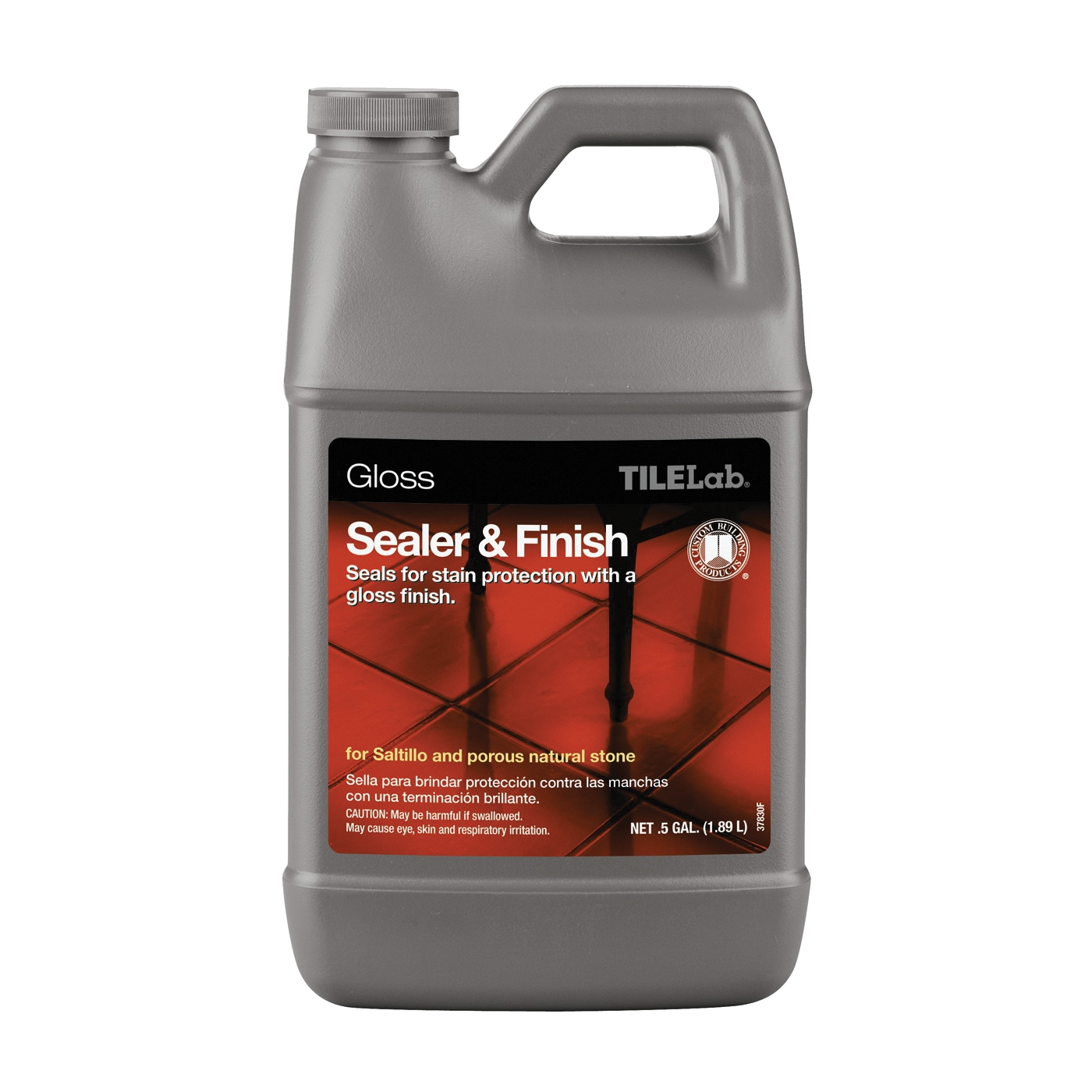 Picture of CUSTOM TileLab TLGLSSHG Sealer and Finish, Liquid, Clear, 0.5 gal, Bottle