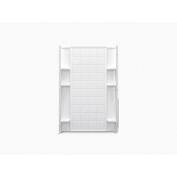 Picture of Sterling Ensemble 72122100-0 Shower Back Wall, 48 in W, Vikrell, White, High-Gloss, Alcove Mounting