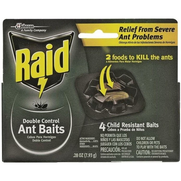 Picture of RAID 76747 Ant Bait, Dual-Control, Paste, Sweet, 0.28 oz Package