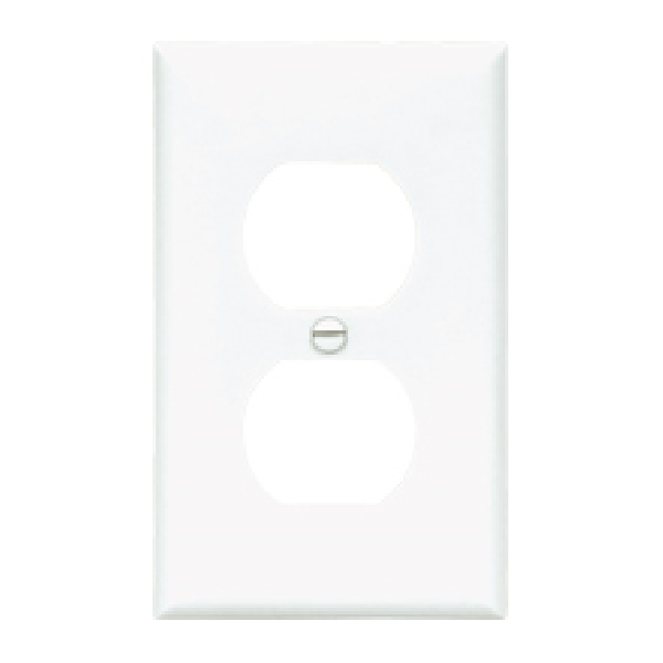 Picture of Eaton Wiring Devices 5150LA Receptacle Wallplate, 4-1/2 in L, 2-3/4 in W, Standard, 2-Gang, Nylon, Light Almond