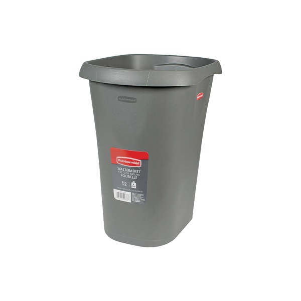 Picture of Rubbermaid 5L51 Series FG5L5100CSHM Vanity Waste Basket, 12 qt Capacity, Plastic, Cashmere, 9 in W, 13-1/4 in D