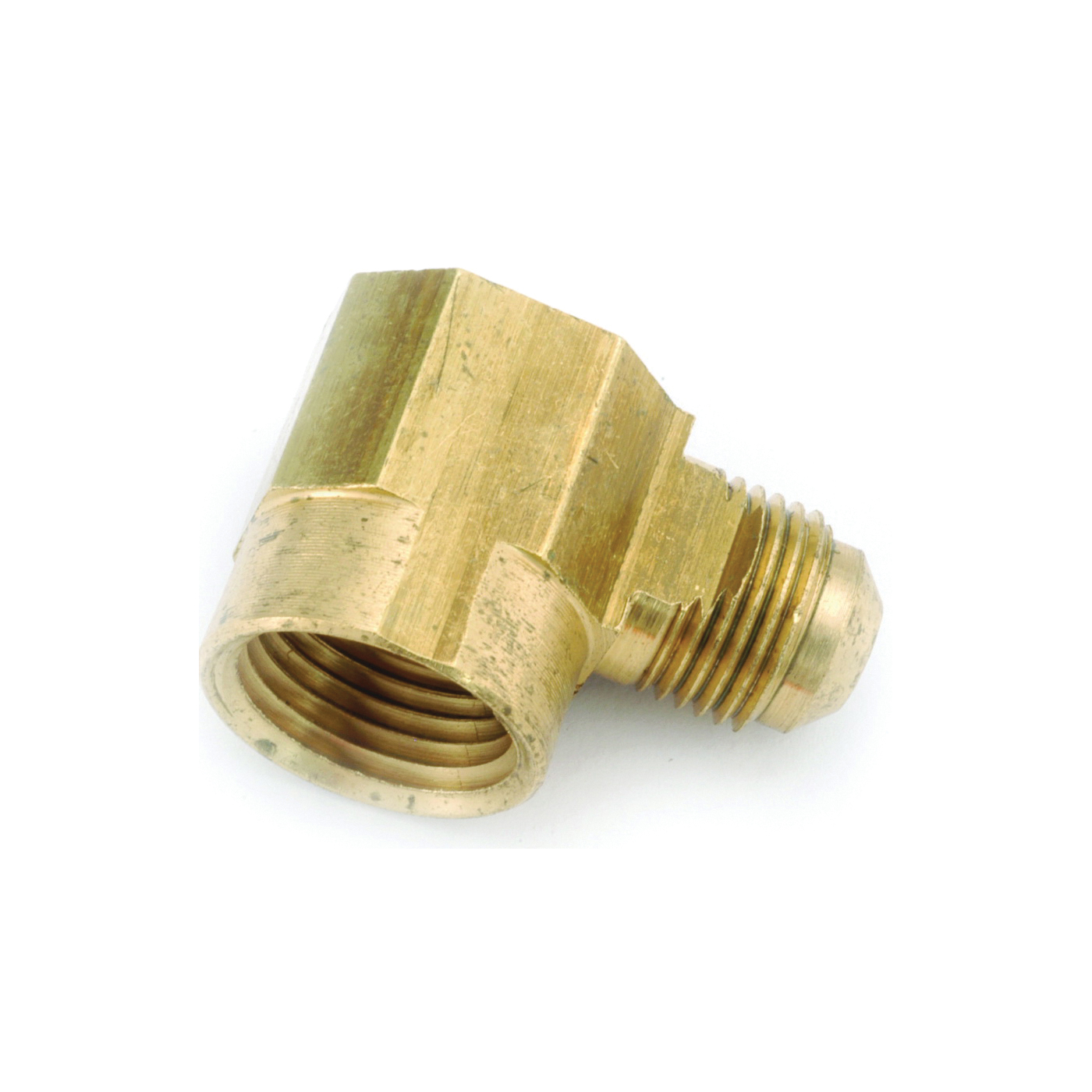 Picture of Anderson Metals 754050-0806 Tube Elbow, 1/2 x 3/8 in, 90 deg Angle, Lead-Free Brass, 750 psi Pressure