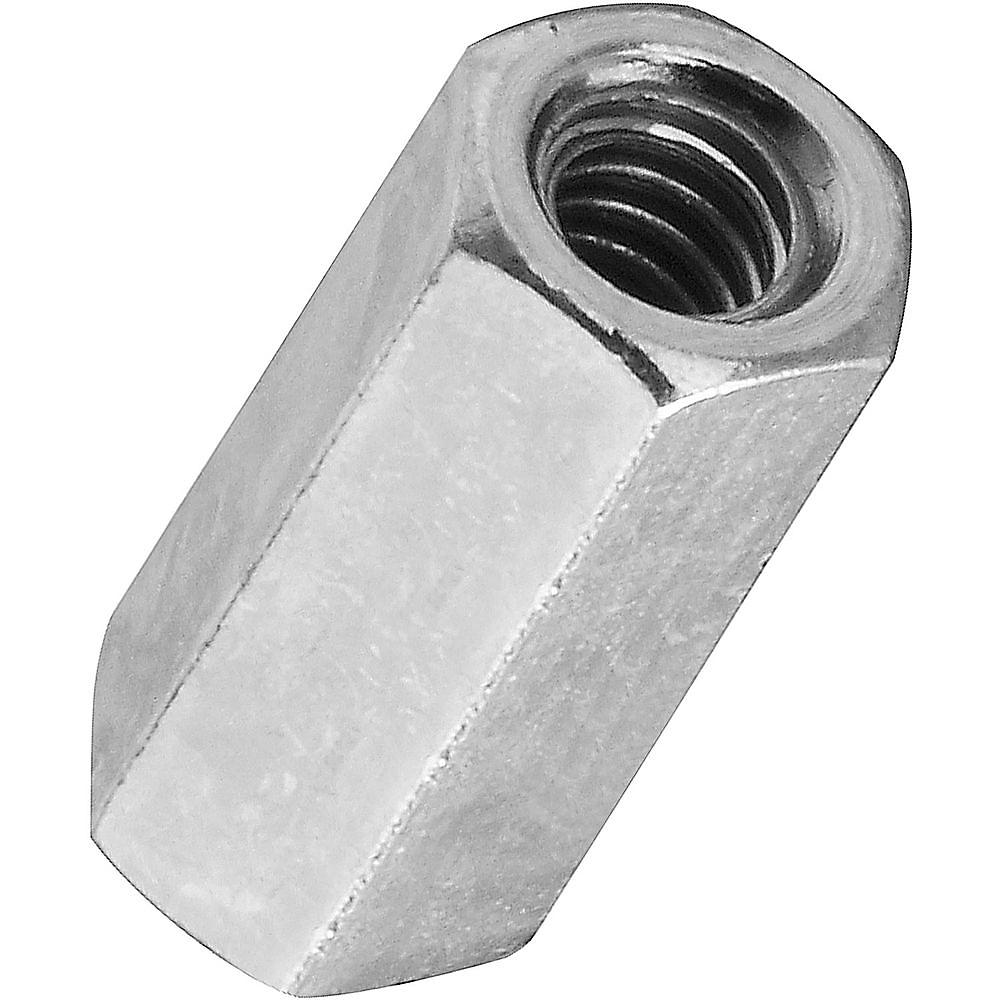 Picture of Stanley Hardware 4003 Series 182659 Coupling Nut, UNC Thread, #10-24 Thread, Steel, Zinc