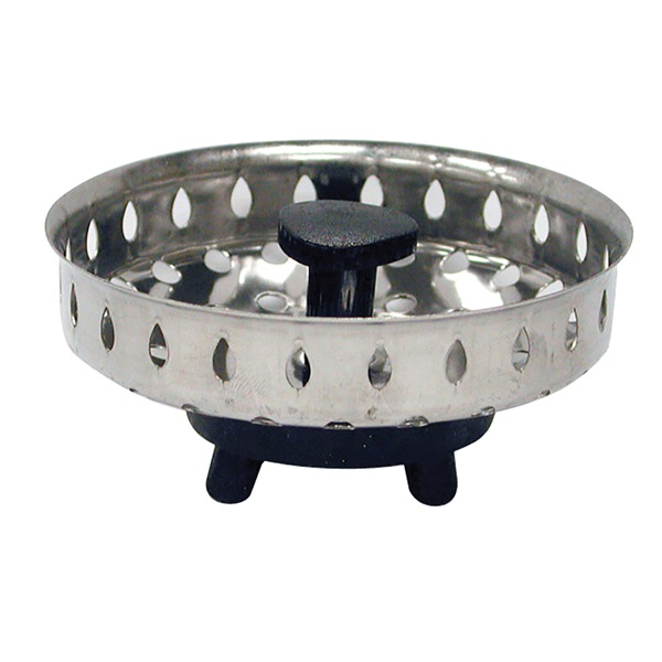 Picture of Danco 86720 Basket Strainer, 3-1/16 in Dia, Stainless Steel, Chrome, For: 3-1/4 in Drain Opening Sink