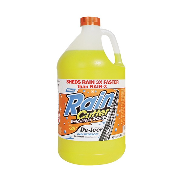 Picture of CAMCO Rain Cutter 31177 Windshield Washer Fluid Clear Yellow, 1 gal Package