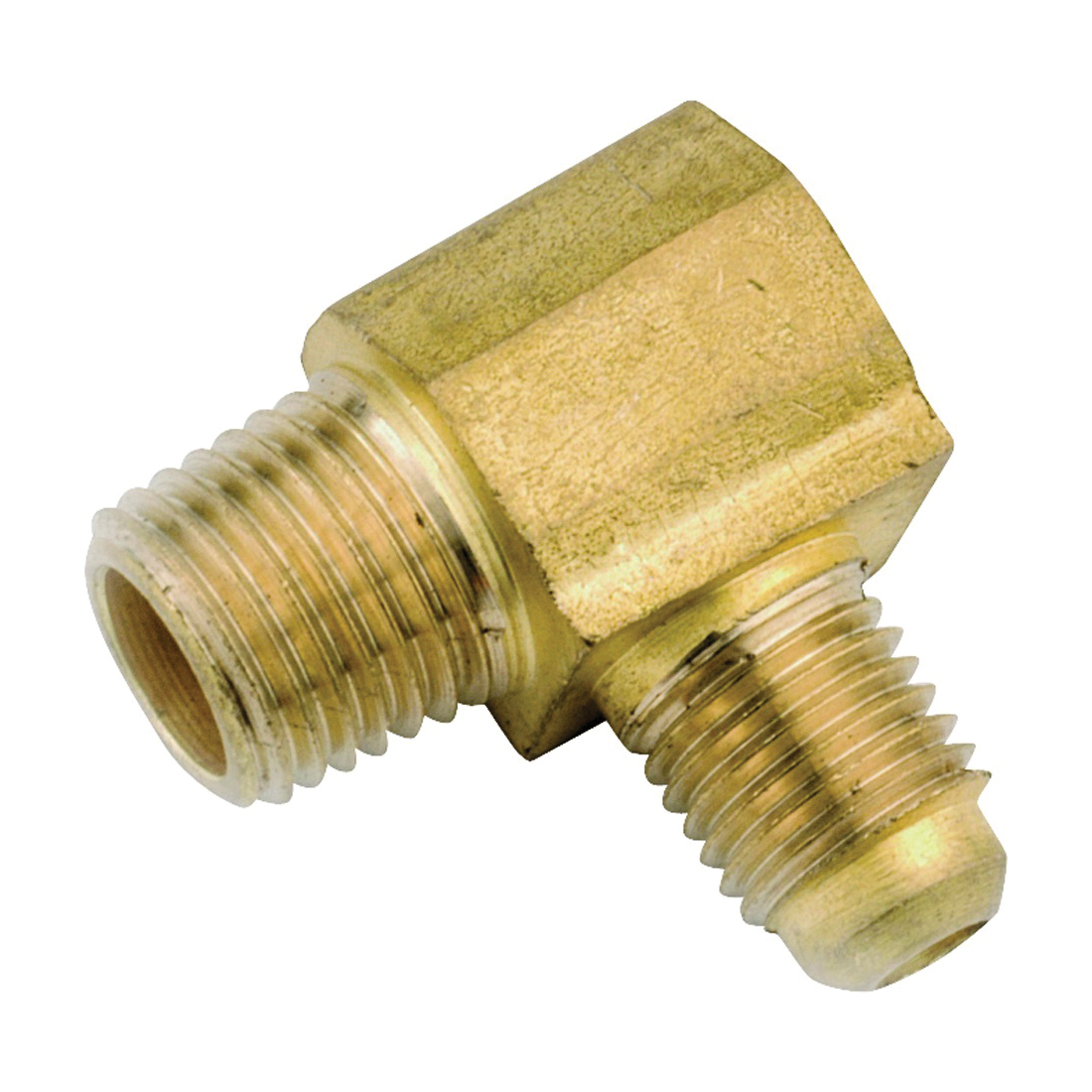 Picture of Anderson Metals 754049-0812 Tube Elbow, 1/2 x 3/4 in, 90 deg Angle, Lead-Free Brass, 750 psi Pressure