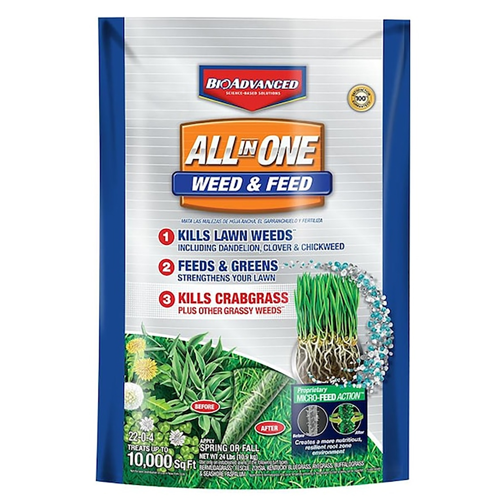 Picture of BioAdvanced 704418S Weed and Feed, Liquid, Mild Sweet, Red Brown
