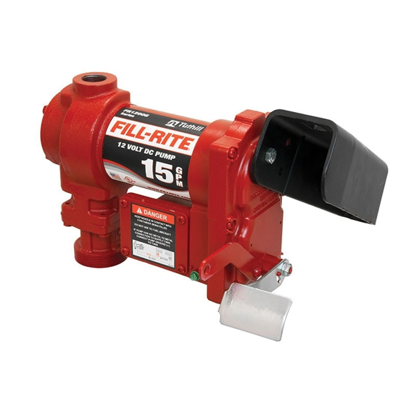Picture of Fill-Rite FR1204G/FR1204 Fuel Transfer Pump, Motor: 1/4 hp, 12 VDC, 20 A, 30 min Duty Cycle, 3/4 in Outlet, 15 gpm