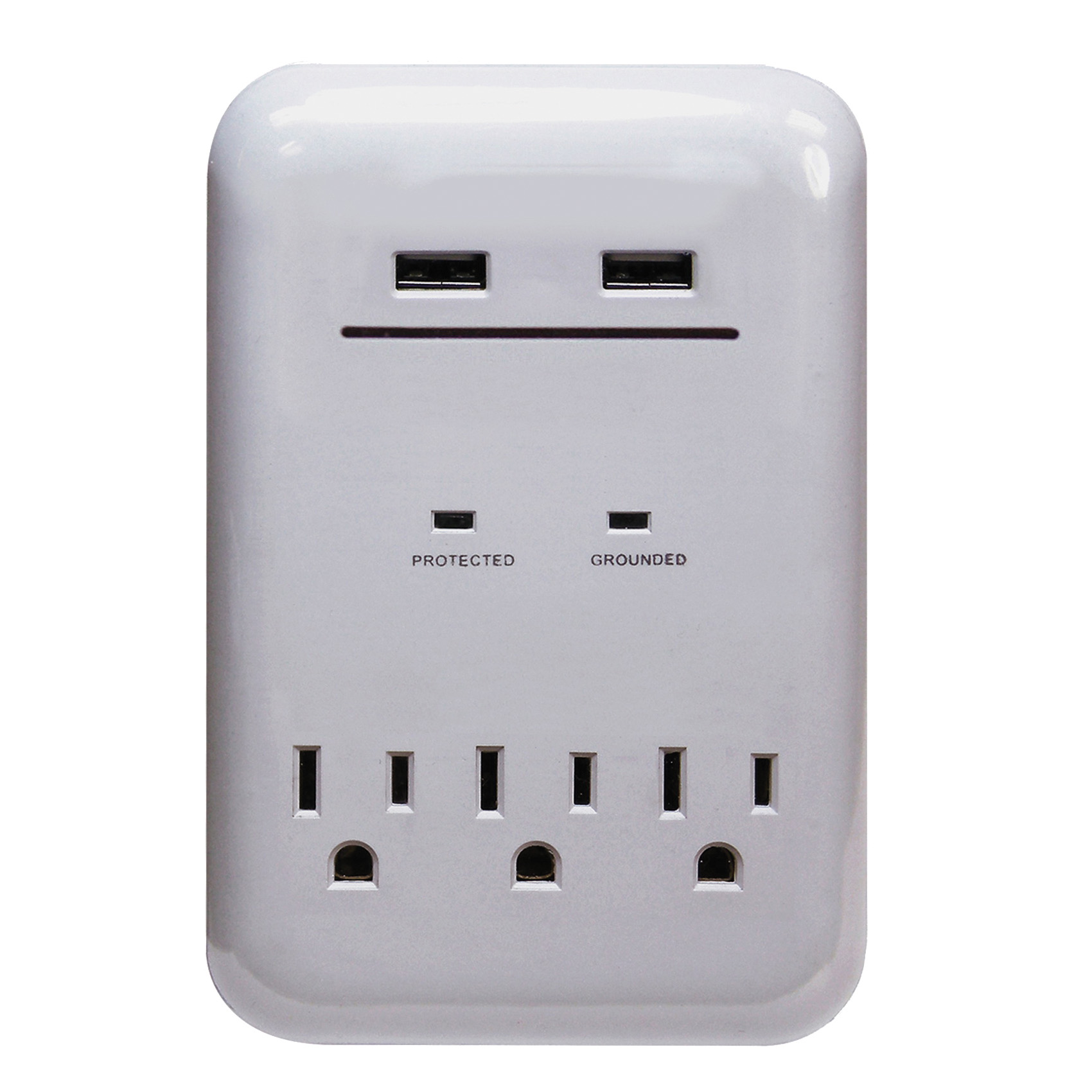 Picture of PowerZone ORUSB343S USB Charger, 3.4 A, 3-Outlet, 950 J Energy