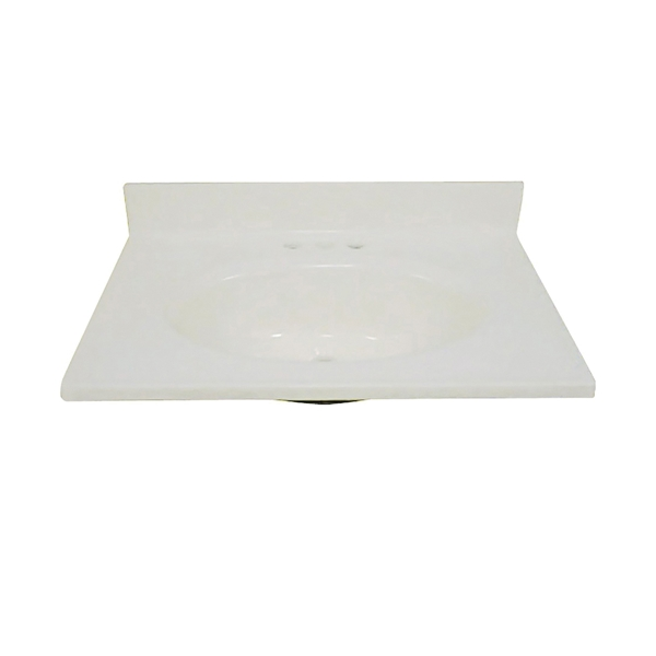 Picture of Foremost BS-1925 Vanity Top, 25 in OAL, 19 in OAW, Marble, Bone, Countertop Edge