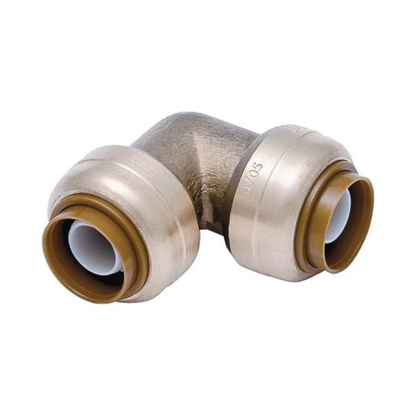 Picture of SharkBite U248LFA4 Tube Elbow, 1/2 in, Brass, 200 psi Pressure
