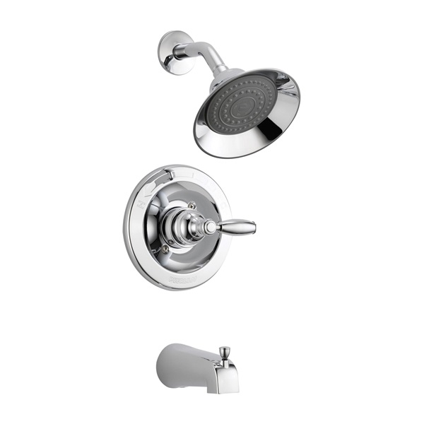 Picture of DELTA Peerless P188775 Tub and Shower Faucet, Brass, Chrome