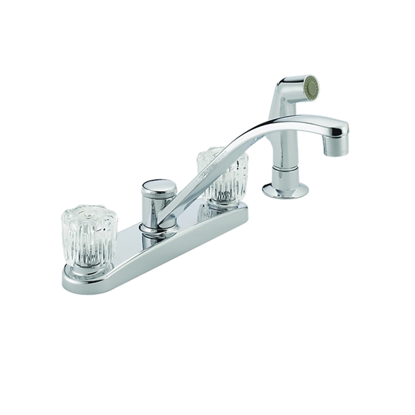 Picture of DELTA Peerless P299501LF Kitchen Faucet, 1.8 gpm, 2-Faucet Handle, Chrome, Deck Mounting, Knob Handle