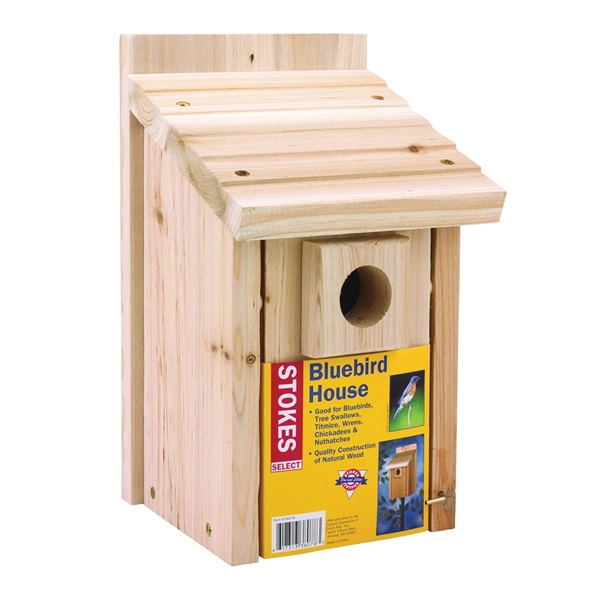 Picture of Stokes Select 38078 Bluebird Nesting House, 7.6 in W, 7.3 in D, 12.7 in H, Cedar Wood