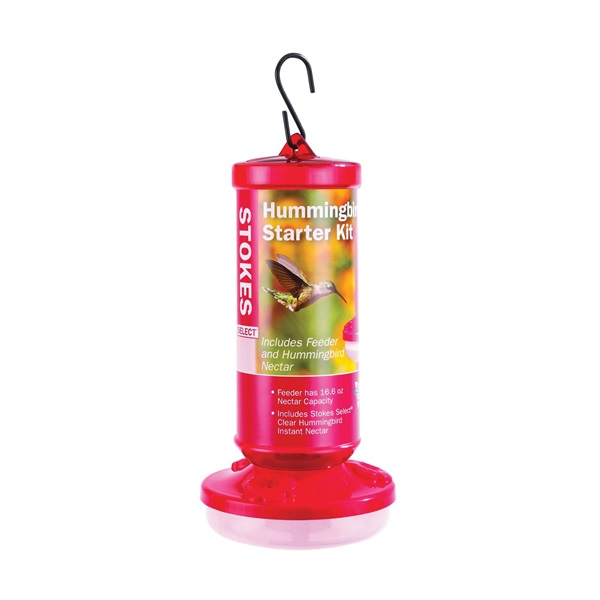 Picture of Stokes Select 38136 Hummingbird Starter Kit, 16.6 oz, Plastic, Red, 8-1/2 in H