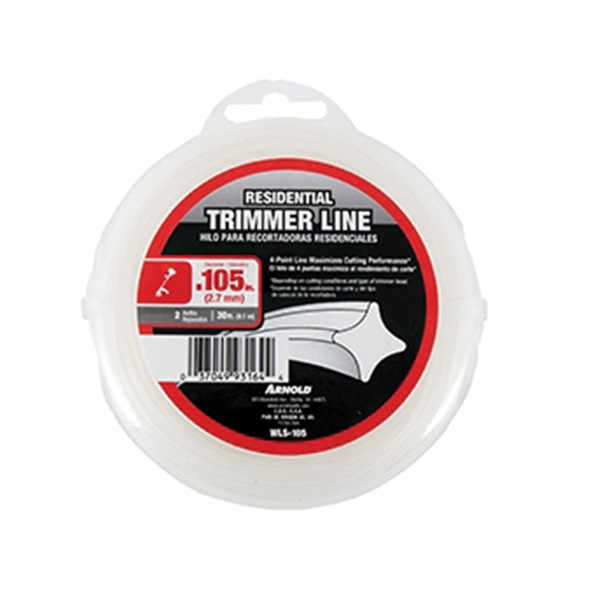 Picture of ARNOLD WLS-105 Trimmer Line, 0.105 in Dia, 30 ft L, Nylon