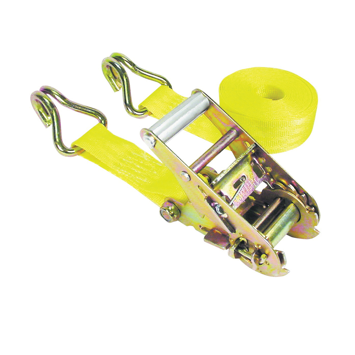 Picture of KEEPER 89519-10 Tie-Down, 1-3/4 in W, 15 ft L, Yellow, 1666 lb, J-Hook End Fitting, Steel End Fitting