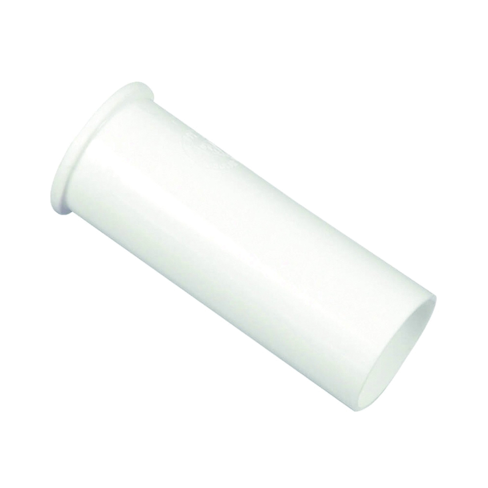 Picture of Danco 94016 Flanged Tailpiece, 1-1/2 in, 4 in L, Slip-Joint, Plastic, White