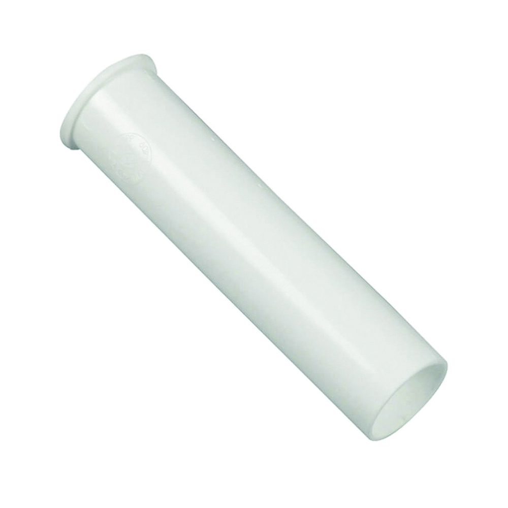 Picture of Danco 94018 Flanged Tailpiece, 1-1/2 in, 6 in L, Slip-Joint, Plastic, White