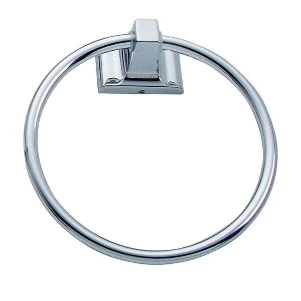 Picture of Boston Harbor L760-26-03 Towel Ring, Aluminum/Zinc, Chrome, Screw Mounting