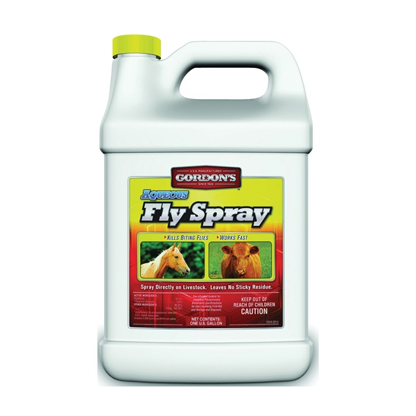 Picture of Gordon's 7301072 Aqueous Fly Spray, Liquid, Yellow, Solvent, 1 gal Package