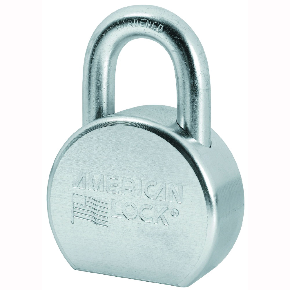 Picture of American Lock A700KA#27334 Padlock, Keyed Alike Key, 7/16 in Dia Shackle, 1-1/16 in H Shackle, Boron Steel Shackle