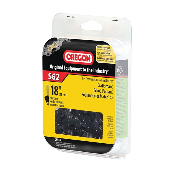 Picture of Oregon S62 Chainsaw Chain, 18 in L Bar, 0.05 Gauge, 3/8 in TPI/Pitch, 62 -Link