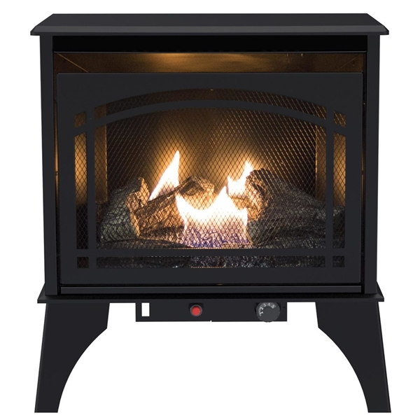 Picture of Kozy World Phoenix GSD2210 Gas Stove, 23.23 in W, 23-1/2 in H, 20,000 Btu Heating, Liquid Propane, Steel, Black