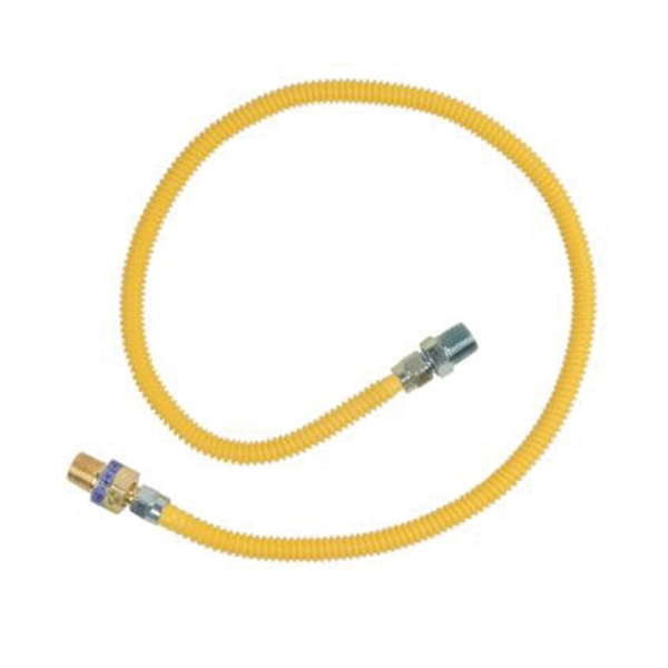 Picture of BrassCraft ProCoat CSSL44R-36P Gas Connector, 1/2 in Inlet, 1/2 in Outlet, 36 in L