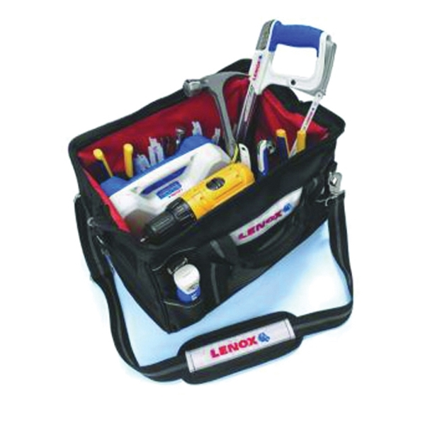 Picture of Lenox 1787426 Contractor's Tool Bag, 16 in W, 12 in D, 10 in H, 14 -Pocket, Canvas, Black