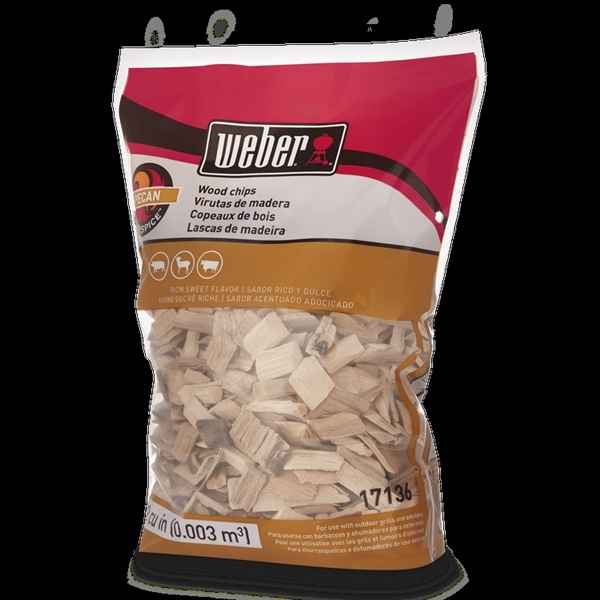 Picture of Weber 17136 Pecan Wood Chips, Wood, 192 cu-in Package, Bag