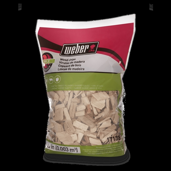 Picture of Weber 17138 Apple Wood Chips, Wood, 192 cu-in Package, Bag