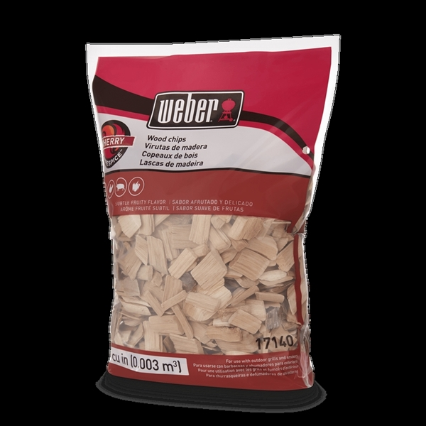 Picture of Weber 17140 Cherry Wood Chips, Wood, 192 cu-in Package, Bag
