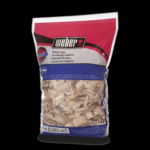 Picture of Weber 17143 Hickory Wood Chips, Wood, 192 cu-in Package, Bag