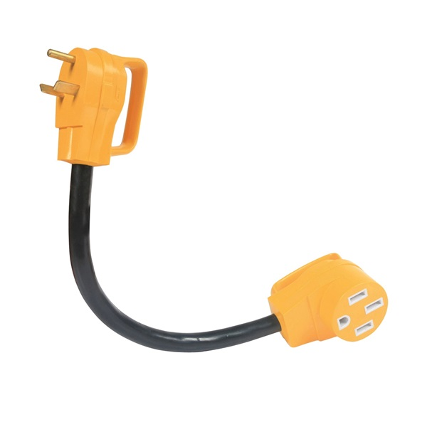 Picture of CAMCO 55183 Power Grip Adapter, 50 A Female, 30 A Male, 125 V, Male, Female