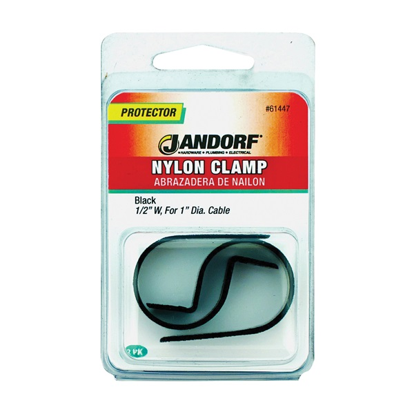 Picture of Jandorf 61447 Cable Clamp, Nylon, Black