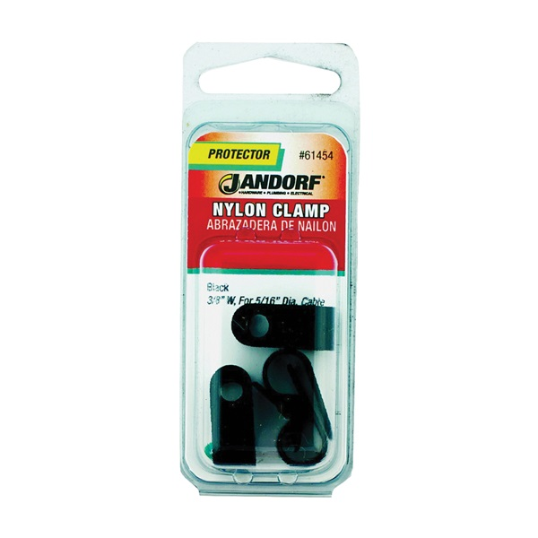 Picture of Jandorf 61454 Cable Clamp, Nylon, Black