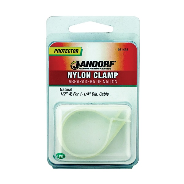 Picture of Jandorf 61458 Cable Clamp, Nylon, Natural
