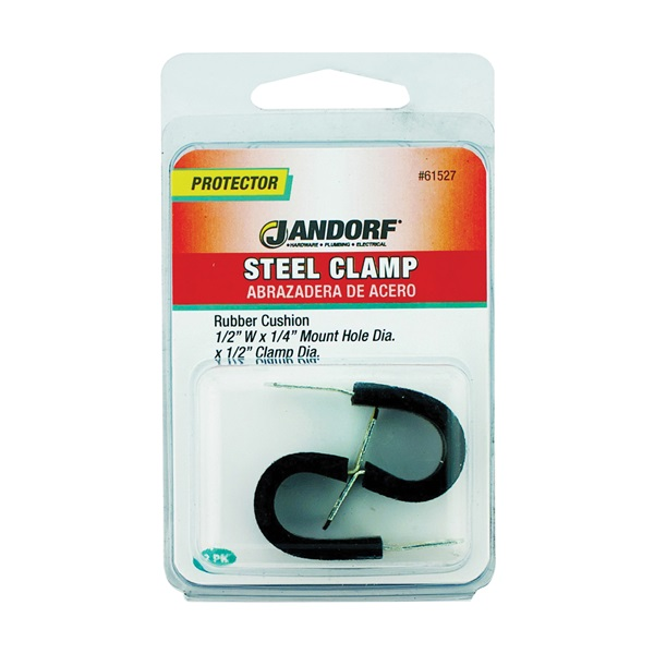 Picture of Jandorf 61527 Cushion Clamp, Rubber/Steel, Black