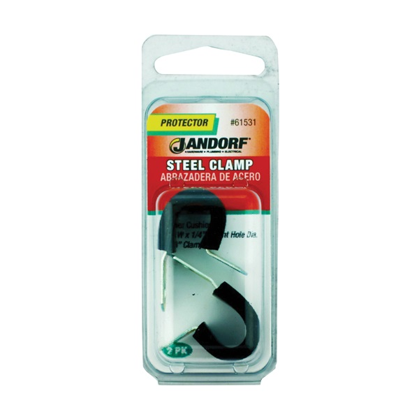 Picture of Jandorf 61531 Cushion Clamp, Rubber/Steel, Black