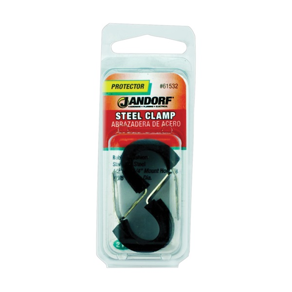 Picture of Jandorf 61532 Cushion Clamp, Rubber/Stainless Steel, Black