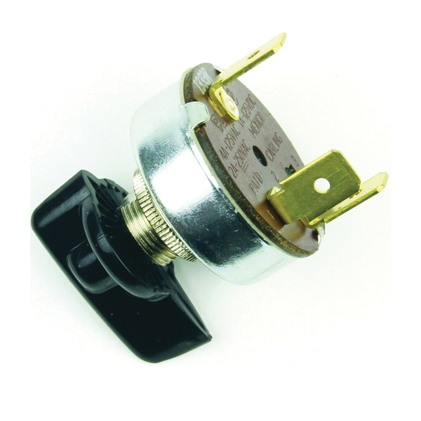 Picture of Jandorf 61033 Single Circuit Rotary Switch, 1 A, 125 V, SPDT, Plastic, Black