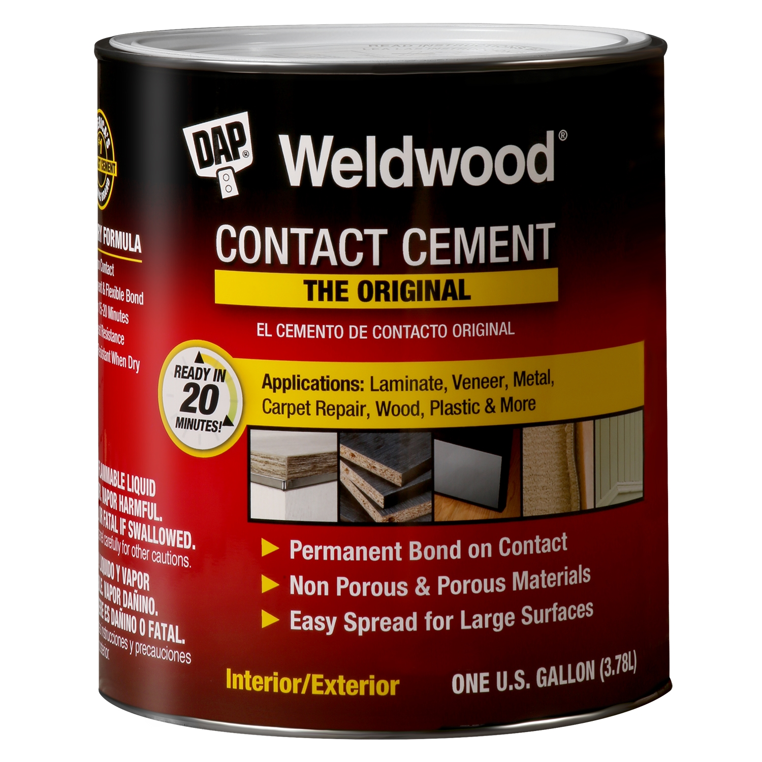 Picture of DAP 00272 Contact Cement, Liquid, Strong Solvent, Tan, 1 qt Package, Can