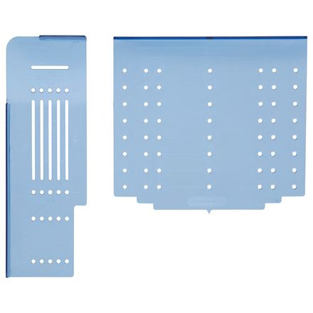 Picture of Amerock TMPMULTI Cabinet Door and Drawer Template, Plastic