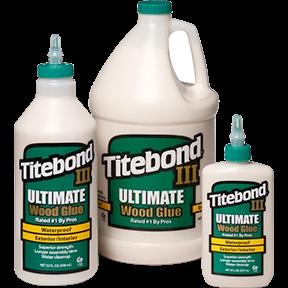 Picture of Titebond III 1412 Wood Glue, Brown, 4 oz Package, Bottle