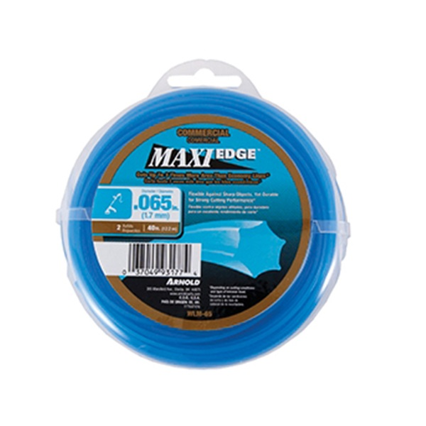 Picture of ARNOLD Maxi Edge WLM-65 Trimmer Line, 0.065 in Dia, 40 ft L, Polymer, Blue