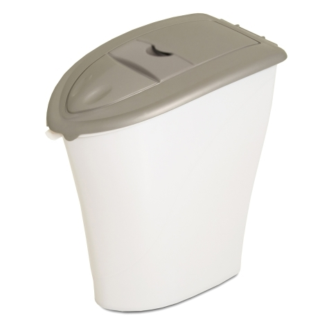 Picture of Aspenpet 24481 Eco-Friendly Kibble Keeper, 20 lb Capacity, Plastic, Pearl Tan/Pearl White, Snap-Tight Cover/Lid