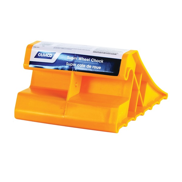 Picture of CAMCO 44492 Super Wheel Chock, Plastic, Yellow, For: Tires Up to 29 in
