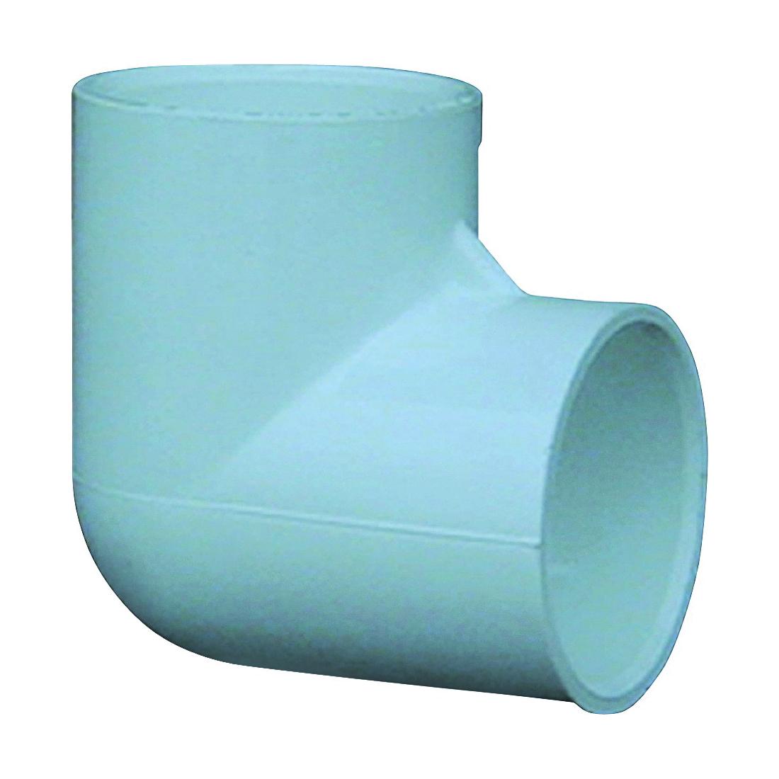 Picture of GENOVA 300 30705CP Pipe Elbow, 1/2 in, Slip, 90 deg Angle, PVC, White, SCH 40 Schedule